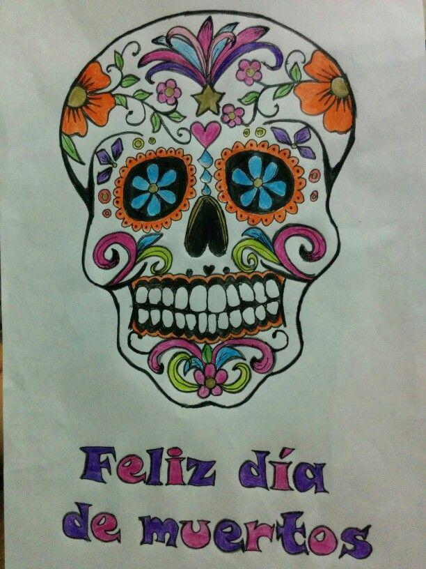 Obra de arte terminada... Para Día de muertos.