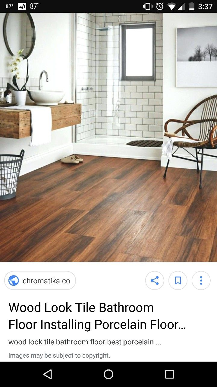 Tile Bathroom Wood Like, What Is The Best Flooring For Upstairs Bathroom