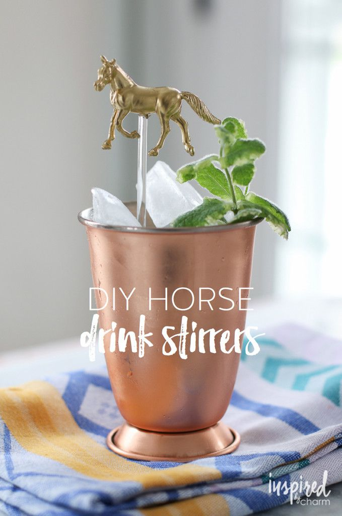 Same idea with sea animals. DIY Horse Drink Stirrers - the perfect Derby cocktail accessory!