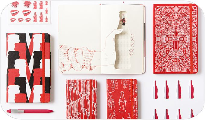 「モレスキン×コカ・コーラ」限定ノートが登場 - ボトルをモチーフにデザイン   ニュース - ファッションプレス