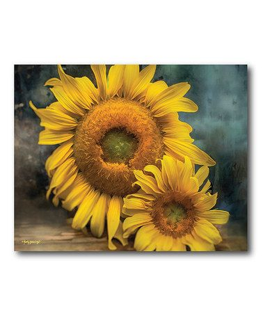 Love this Blooming Sunflowers Canvas Wall Art on #zulily! #zulilyfinds
