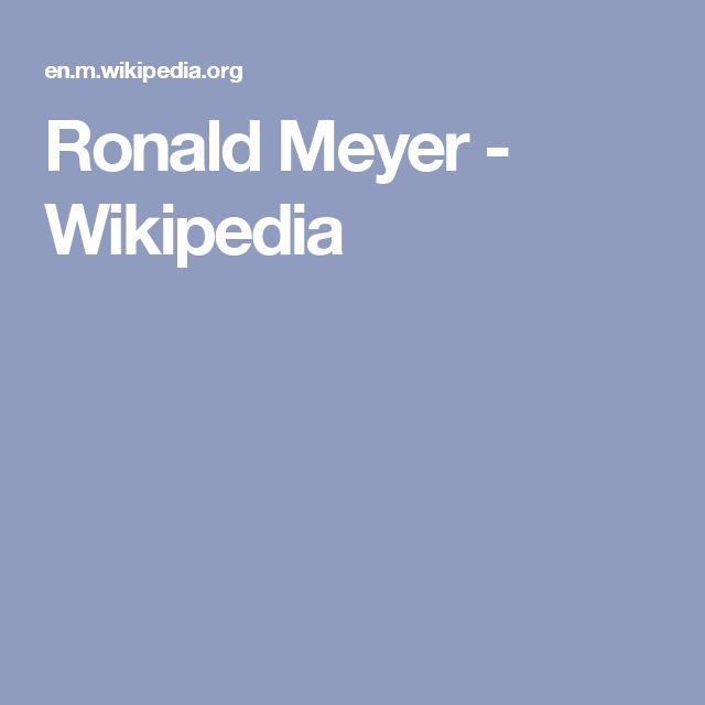 Ronald Meyer - Wikipedia