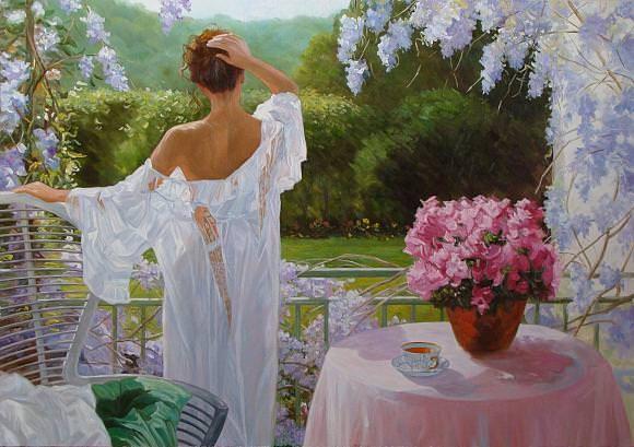 Утренний чай. По мотивам V. R., автор Andrey. Артклуб Gallerix
