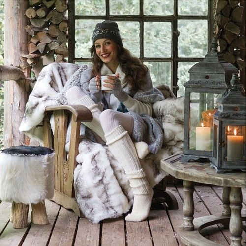 Warm & Cozy (P.S. For me-faux fur all the way!)