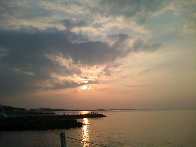 二見浦の夕景(2010年8月)  Sunset at Futaminoura,Mie,Japan Aug 2010