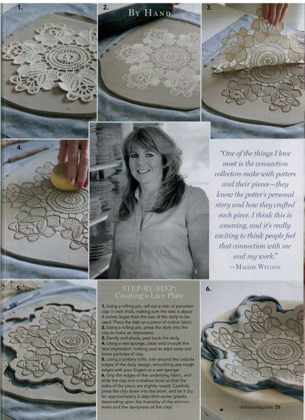 How-To Make Lace Pottery · Lace Pottery Featured In Bliss Victoria Magazine