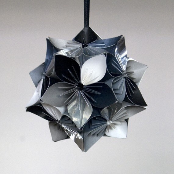321 best origami topiario bouquet images on pinterest origami black and white small origami kusudama flower mightylinksfo