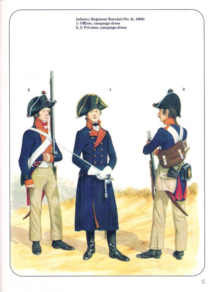 Prussian; 2nd Infantry Regiment Ruechel 1806. Officer