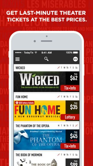 TodayTix — Last-minute theater tickets (Broadway + more) by TodayTix, LLC