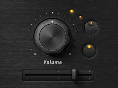 Volume slider - synthesizer.