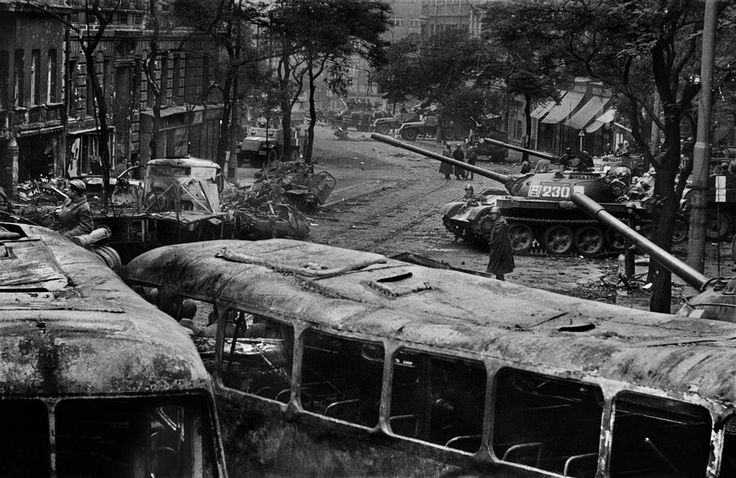 by Josef Koudelka - CZECHOSLOVAKIA. Prague. August 1968. Warsaw Pact troops invasion