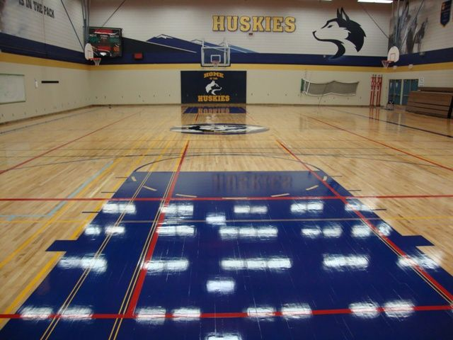 Game court markings painting redecorating services from AHF hardwood floor refinishing-Vancouver BC. Serving sea to sky British…