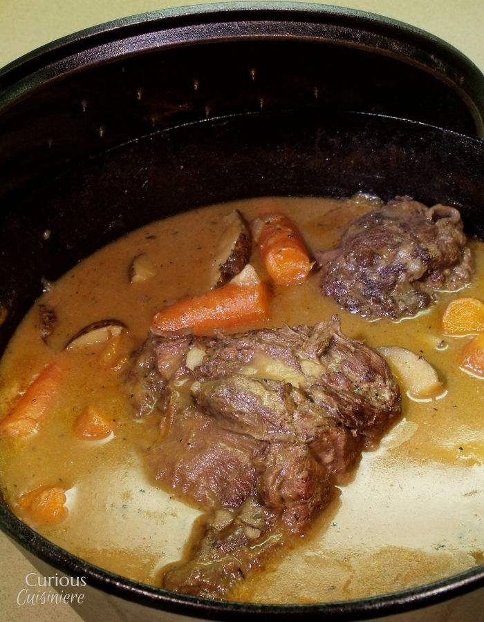 Beer Braised Venison Roast