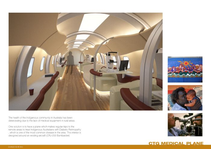 Closing The Gap - Flying Doctor Aircraft Interior by Charles Ng at Coroflot.com