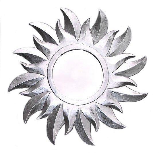 SONNEN SPIEGEL Sonne silber Wandspiegel Holzsonne 40cm Sonnenspiegel Dekosonne in Möbel & Wohnen, Dekoration, Spiegel | eBay!