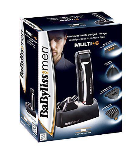 Babyliss E823E Tondeuse Multiusage Rechargeable 6 en 1: lames 32mm - spécial barbe: affûtage par électrochémie / lame fixe : acier…