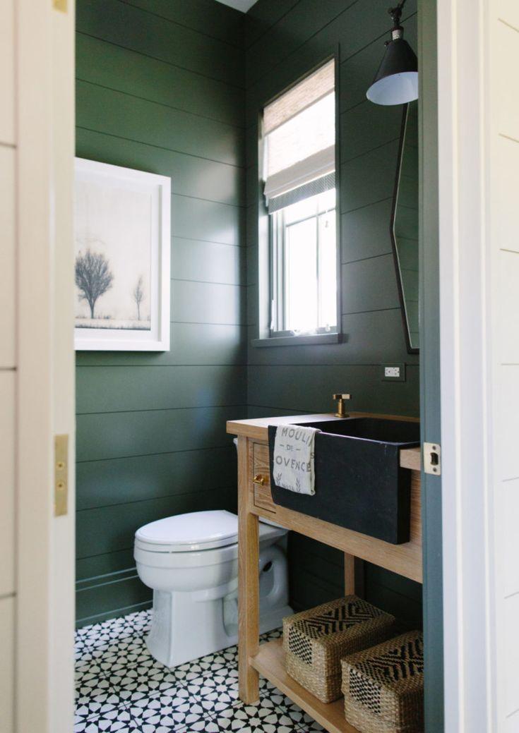 modern wood accent wall ideas  green bathroom paint