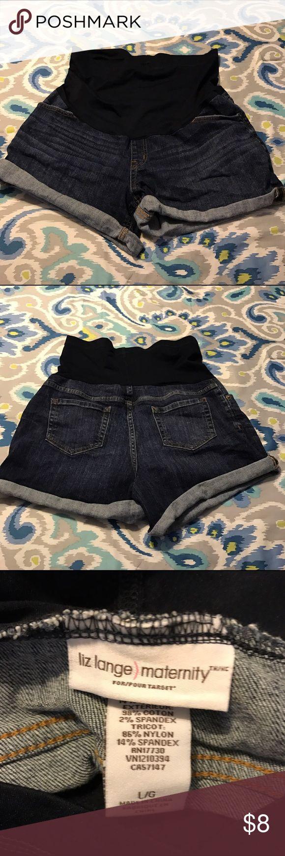 💕Liz Lange maternity shirts size Large💕 Cute comfy simple shorts Liz Lange Shorts Jean Shorts