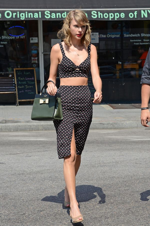 The Best Celebrity Matching Sets Of Summer, So Far #refinery29  http://www.refinery29.com/2014/07/70964/celebrity-fashion-matching-sets#slide1  Taylor Swift A love story of the sartorial sort.