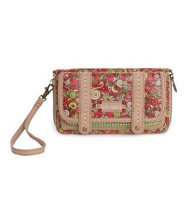 Take a look at this Raspberry Dreamland Artist Circle Flap Wallet by Sakroots on #zulily today!