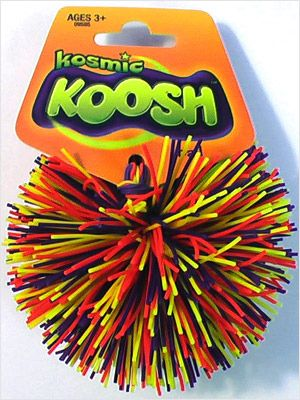 Koosh ball! Every body forgot about these beautiful little buggers, but not me! This harmless koosh can be a teaching aid like none other. Not only is it impossible to remain apathetic when there is a koosh wizzing by your face, it stimulates the brain and the body when in an otherwise shy classroom. Bring kinesthetics back into learning.