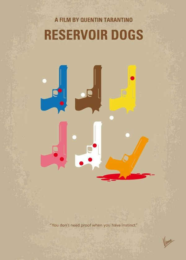 No069 My Reservoir Dogs minimal movie poster  After a simple jewelery heist goes terribly wrong, the surviving criminals begin to suspect that one of them is a police informant.  Director: Quentin Tarantino Stars: Harvey Keitel, Tim Roth, Michael Madsen  Reservoir, Dogs, super, sounds, of, 70s, Quentin, Tarantino, Harvey, Keitel, jewel, heist, criminal, Mr, white, orange, blonde, pink, brown, blue, diamond, Robbery,