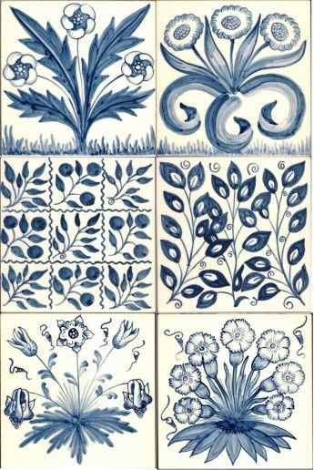 "These beautiful William Morris tiles are so inspiring: ""William Morris is widely recognised as founder and key exponent of the Arts and Crafts movement but tiles from the era are more usually associated with his colleague William de Morgan. However, several of William Morris's well known fabric design motifs were also used on tiles..."""