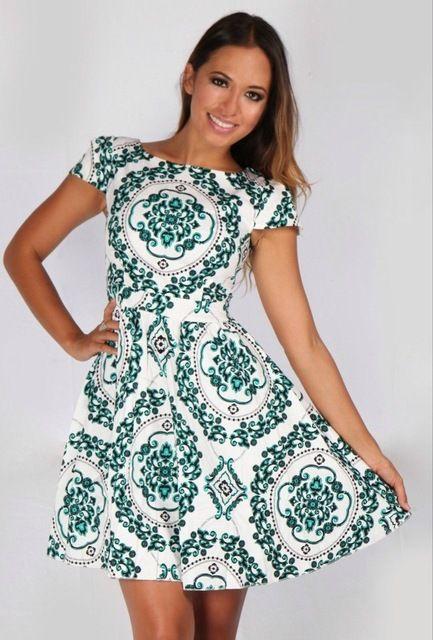Gratis bezorging Mode Etnische stijl van afdrukken en Barokke jurk. feestjurk J311