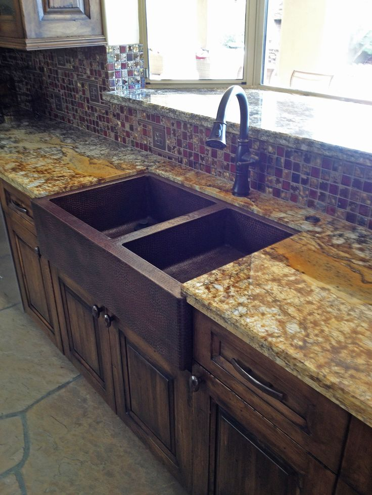 Copper Kitchen Sinks and Farmhouse Sinks at Copper Sinks OnlineLarge Copper Farmhouse Double Well Copper Sink 60/40