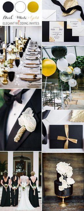 40 inspirierendsten klassischen Schwarzweiß-Hochzeitsideen  #hochzeitsideen #in…