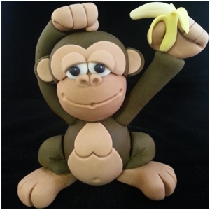 Jungle Jazz! Model this cheeky monkey and other jazzy jungle characters with Liz Aplin at the SK Exhibition 2013.