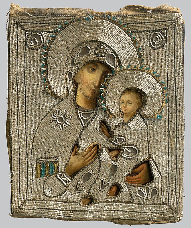 Madonna with child, Russian Iconography, 1775/1800. Slovak National Gallery, CC BY