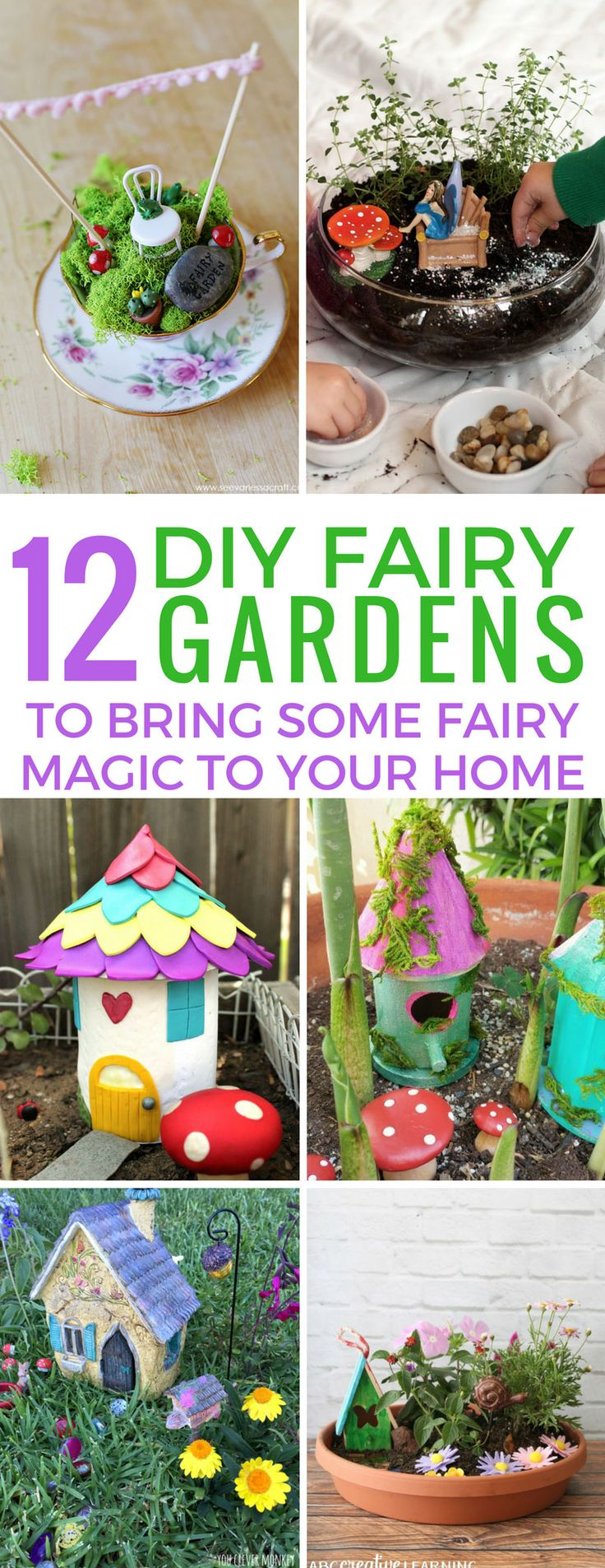It's about time a pixie or two moved in so we can't wait to make one of these DIY fairy gardens! Thanks for sharing!