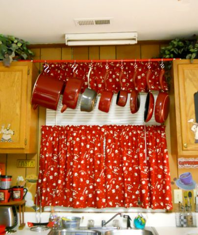 143 best kitchen curtain fabric ideas images on pinterest kitchen hanging pot rack solutioingenieria Image collections