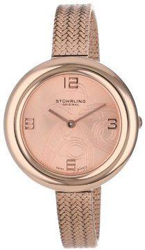"Stuhrling Original Women's 506.124414 ""Leisure Soiree Deauville"" 16k  Rose Gold-Plated Mesh Strap Watch on shopstyle.com.au"