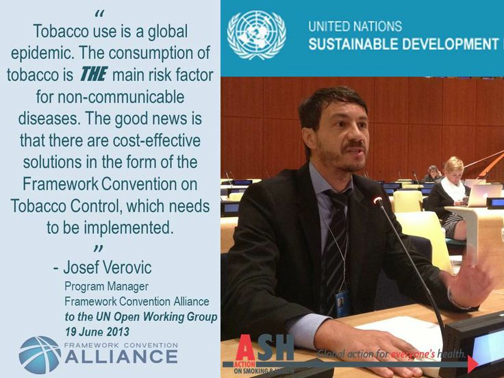In July 2014, UN Member States will review progress on putting in place the pledges made in the Political Declaration of the 2011 NCD Summit. Implementing the WHO Framework Convention on Tobacco Control must remain a priority!