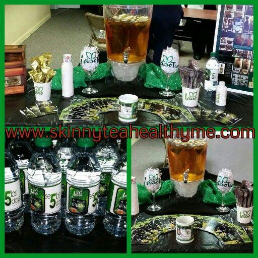My vending display table.. iaso tea..