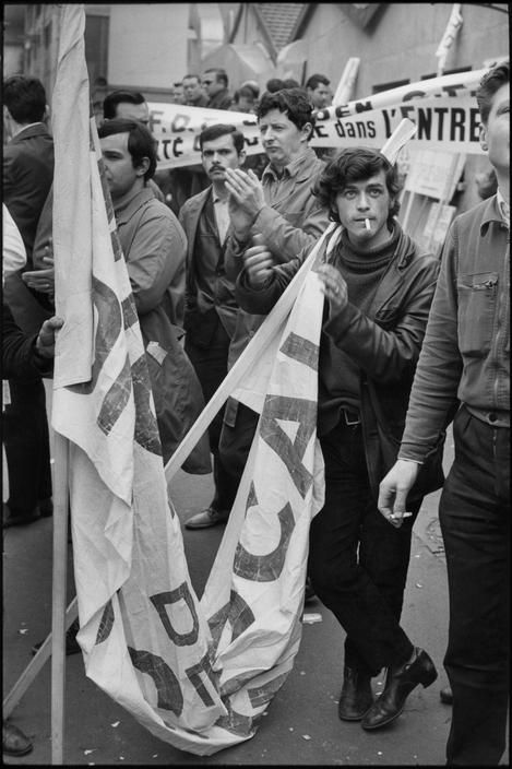 Grantaire look-a-like from a real French student movement in 1968