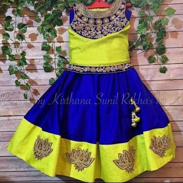 Neon Green Blue Lehenga - Indian Dresses