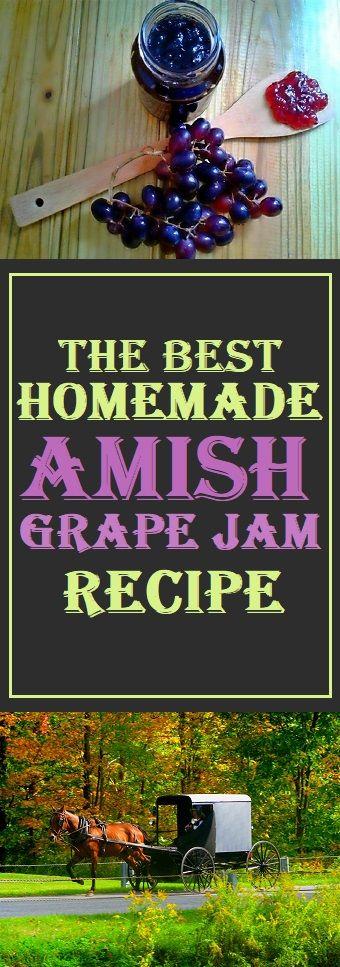 Amish Grape Jam Recipe #amish #healthy #jamrecipe #lifestyle
