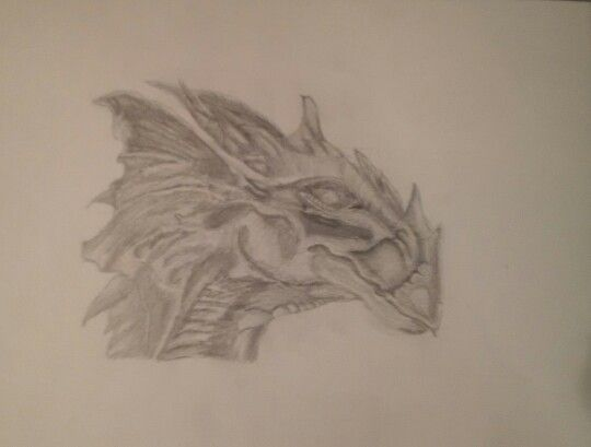 My dragon head, from a sketch