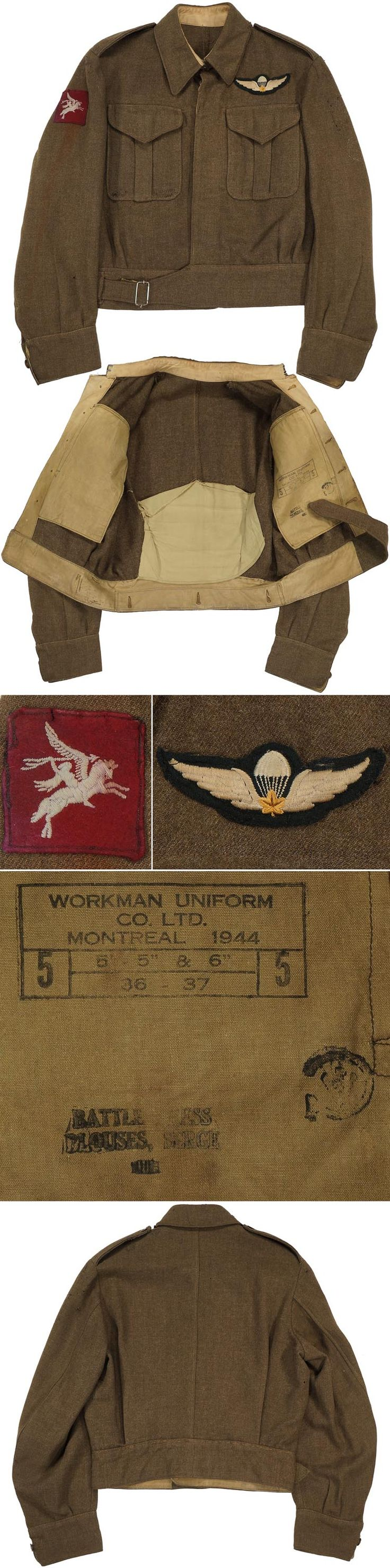 QUALIFIED PARATROOPER'S AIRBORNE FORCES BATTLEDRESS TUNIC.