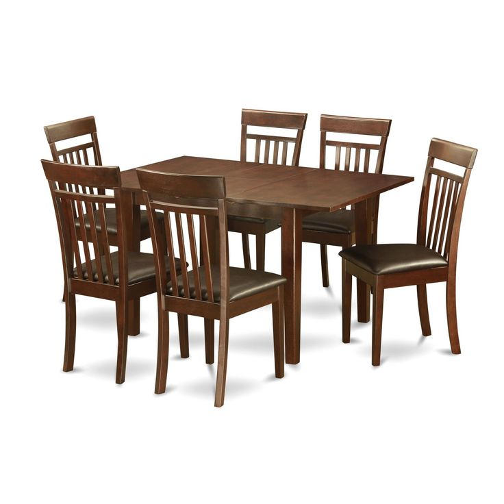 Psca7 Mah 7 Piece Small Kitchen Table Set