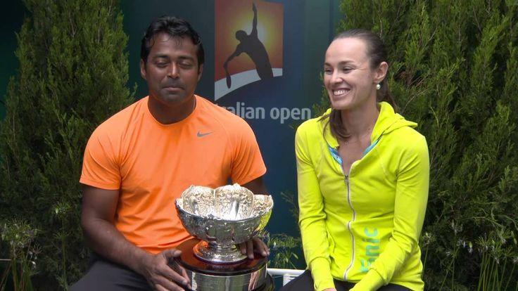 Martina Hingis and Leander Paes interview Australian Open 2015
