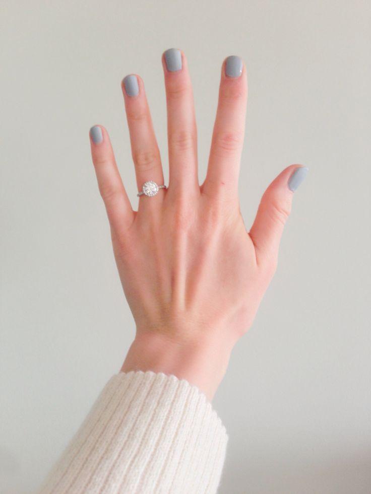"Pantone ""Aluminum"" Matte Grey nail polish"