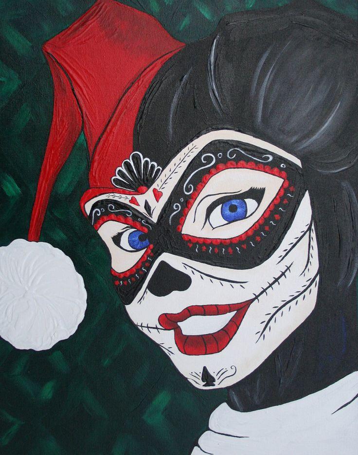 harley quinn day of the dead | Harley Quinn SugarSkull by SuperFlashDance