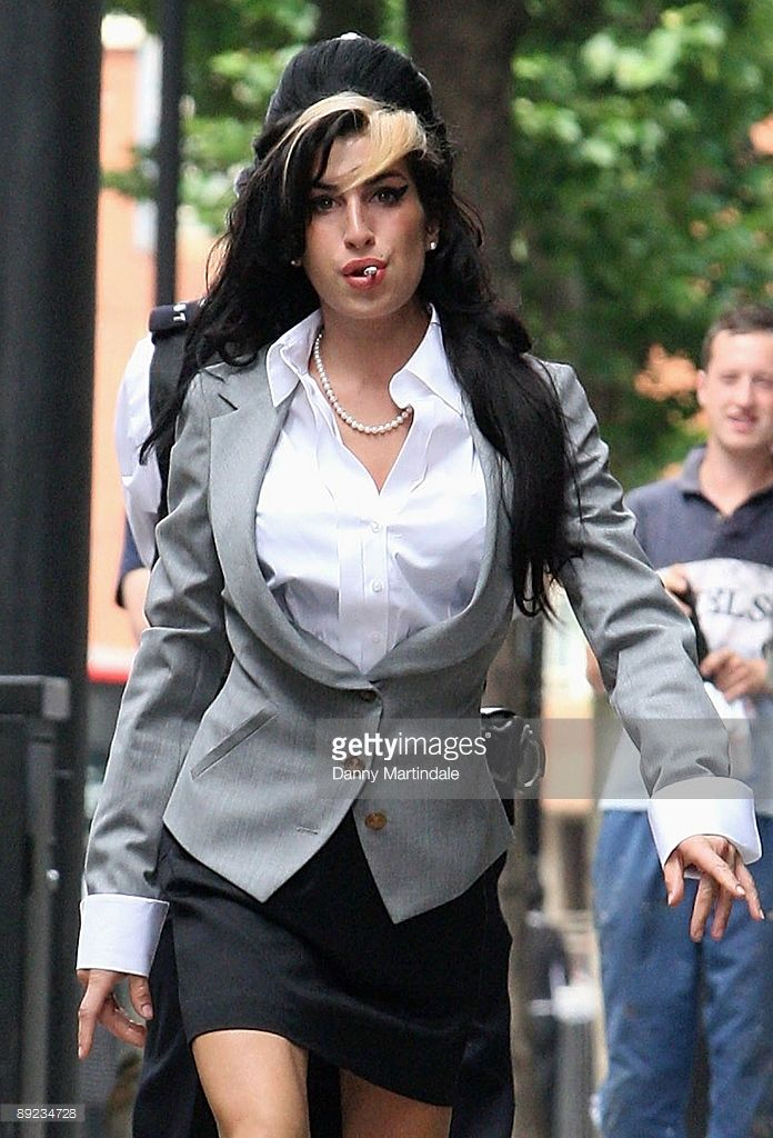 Amy Winehouse arrives at court on the second day of her assault trial at The City of Westminster Magistrates Court on July 24, 2009 in London, England.