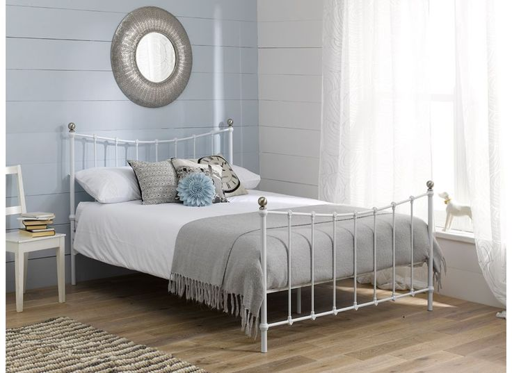 Jasmine Bed Frame - White   Dreams