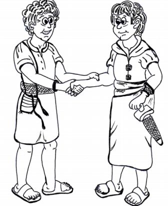 David and Jonathan bible lesson ~ David and Jonathan coloring pages