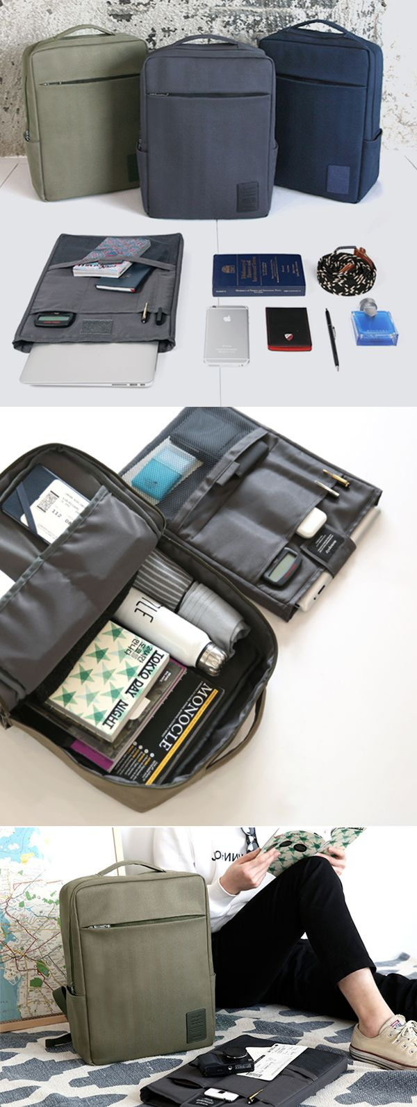 """It is a functional backpack with a modern design making it great regardless of age and gender! With the spacious compartments and a super useful organizer insert, you can store many items along with your electronic devices, even up to 17"""" laptop! The backpack features top handles and padded shoulder straps allowing you to carry the backpack with comfort and ease."""